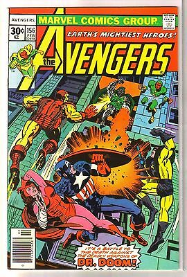 AVENGERS #156 Deadly Weapons of Dr Doom! Marvel Comic Book ~ VF