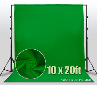 10' x 20' Green Screen Polyester Muslin Backdrop Photo Photography Background