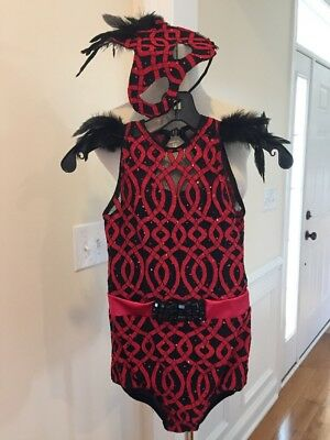 Tenth House Girls Red and Black Jazz Dance Costume Size LC Large Child