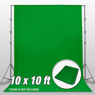 10 ft Green Screen Polyester Backdrop Photo Photography Background Washable