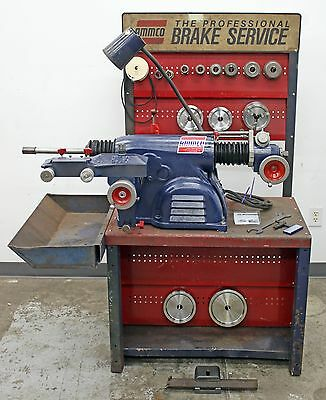 Very Nice Ammco 4000 Heavy Duty Disc and Drum Brake Lathe w/ Double Chuck Kit
