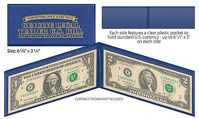 BLUE Deluxe Display Protection Folio CURRENCY BANKNOTE BILL PAPER MONEY (QTY 10)
