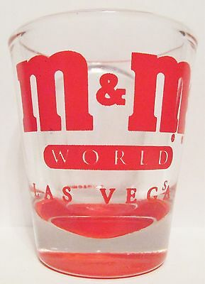 M & M's World,  Las Vegas   Red Short Shot Glass