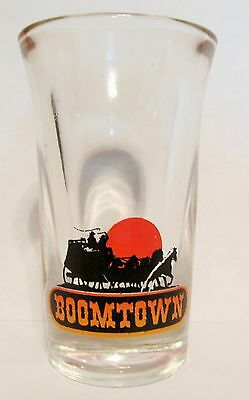 "Boomtown   Small Fluted Shot Glass   3"" Tall"