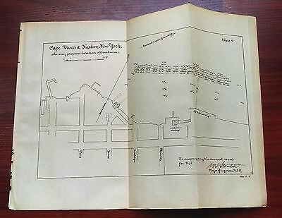 1899 Sketch Map Cape Vincent Harbor New York Breakwater AAK Steamer Wharf