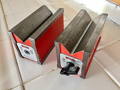2  SPI Magnetic V-blocks No.  98-284-3 , Japan Made Machinist Tools