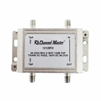 Channel Master 1212Ifd 2-Way Coaxial Catv Tap Module, 12Db, 40-2050Mhz
