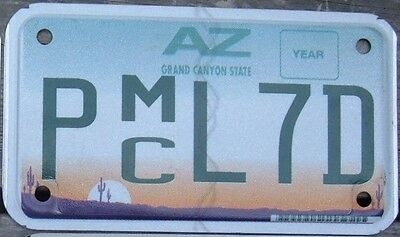 ARIZONA  flat Motorcycle Cycle License plate PL 7 D    ^