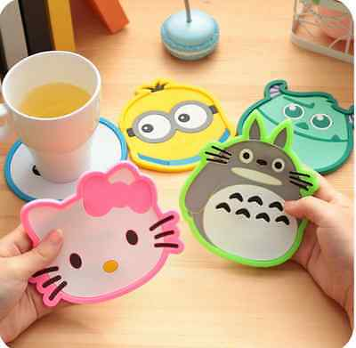 Creative Lovely Cup Mat Heat Insulation Cushion Coasters Cartoon Patterns