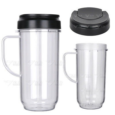 22oz Juicer Cup+Cup Lid Holder w/ Handle Spare Part Replacement For Magic Bullet
