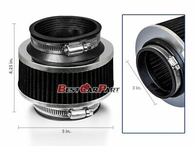 """RED UNIVERSAL 2.75/"""" 70mm DRY AIR FILTER FOR HONDA//ACURA SHORT//COLD AIR INTAKE"""