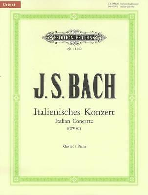 J.S. BACH - Italian Concerto Urtext Peters Edition Piano Book *NEW* Sheet Music