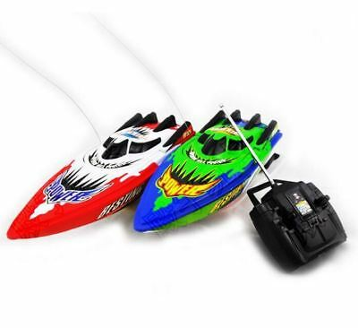 Red/Green Radio Remote Control Twin Motor High Speed Boat RC Racing Outdoor Toy