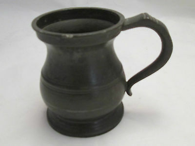 A 19th Century Half Pint Pewter Tankard