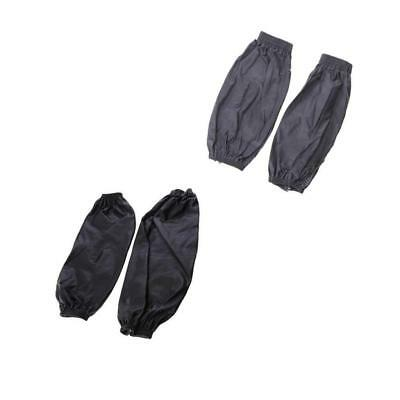 Waterproof Sleeves Cuffs in Black +Gray with Elastic Line for Laboratory