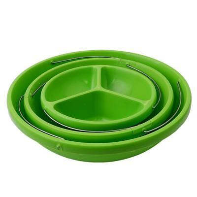 3 Layers Salad Plastic Bowl Collapsible Stand Cake Fruit Nesting Bowls Green Z