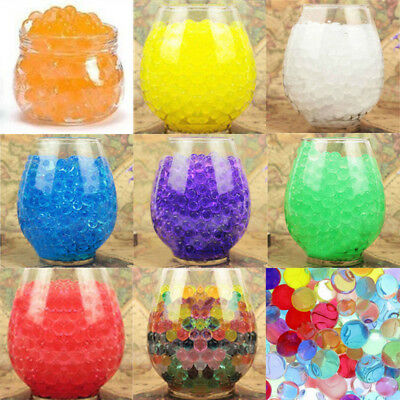 10000PCS Water Plant Flower Jelly Crystal Beads Gel Ball Soil Mud 8Colors Choose