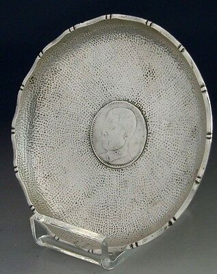 Interesting Chinese Export Silver Coin Dish 1929 Antique