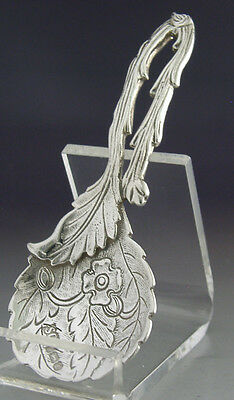 Beautiful Chinese / Japanese Style Sterling Silver Caddy Spoon Blossom 1978