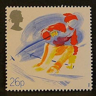 'Skiing' illustrated on 1988 Stamp - Unmounted Mint