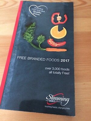 Slimming World Branded Foods 2017 Brand New