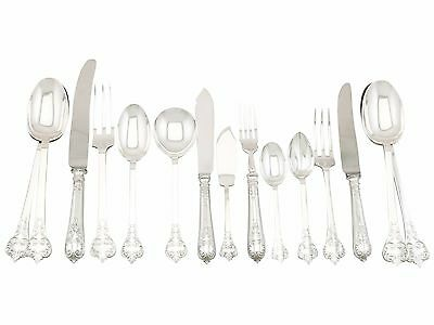 Vintage Sterling Silver Canteen of Cutlery for Eight Persons, 85 Pieces, 1940s