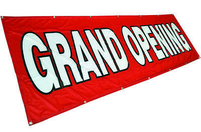 3x10 ft GRAND OPENING Banner Sign Vinyl Alternative Store Sale Fabric rb