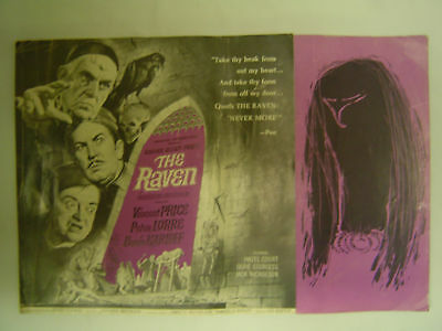 THE RAVEN Advertising Campaign Booklet 1963 Roger Corman horror film RARE