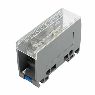 1 Input 6 Output 2 Positions 3 Rows 690V Screw Wire Terminal Block Gray