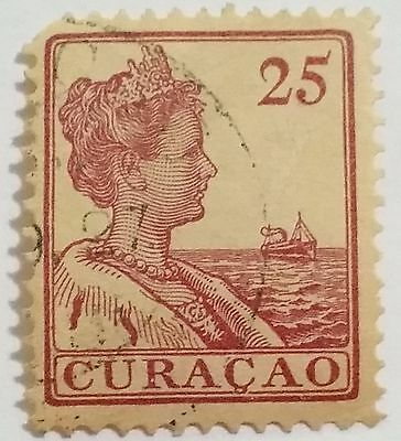 Curacao  25 Cents   Used Stamp ......worldwide Stamps
