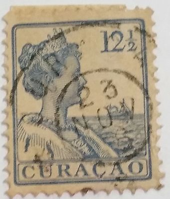 Curacao  12 1/2   Cents   Used Stamp  Scu211Ss......worldwide Stamps