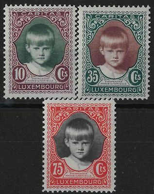 v008) Luxembourg. 1928. MM. SG 285/86/87. Child Welfare