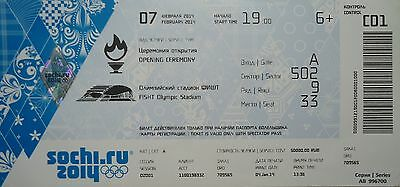 mint TICKET 7.2.2014 Olympic Games Sotschi Sochi Opening Ceremony C01