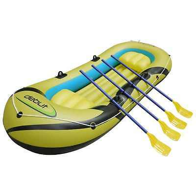 Debut Sports 3-4 Person Man Inflatable Dinghy Boat Complete With Oars BNIB