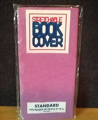 STANDARD Stretchable Fabric Book Cover Solid Purple - New