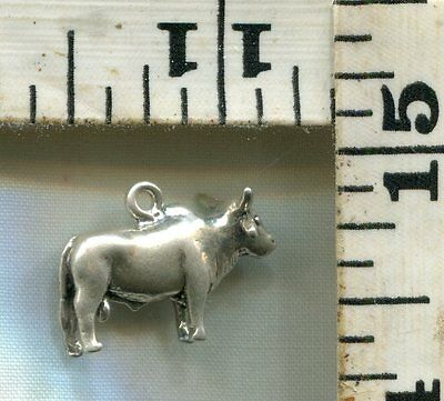 Vintage Sterling Bracelet Charm~#87159~A Bull Or Water Buffalo~You Decide~$14.99