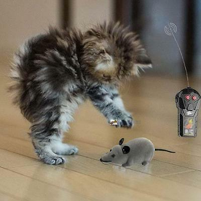 Wireless Remote Control RC Electronic Rat Mouse Mice Toy For Cat Puppy Gift C MT