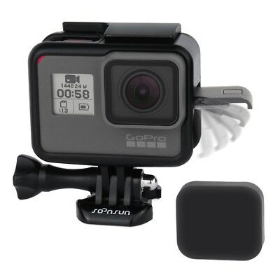 Frame For GoPro HERO5 6 7 Black Protective Housing Case Mount w/ Soft Lens Cap