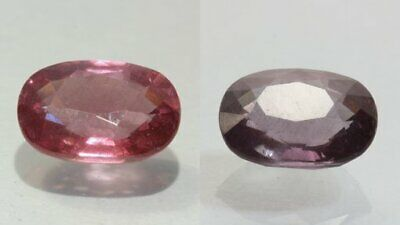Color Change Garnet Natural Red Purple Faceted 8 x 6 mm Oval Cushion 1.82 Carat