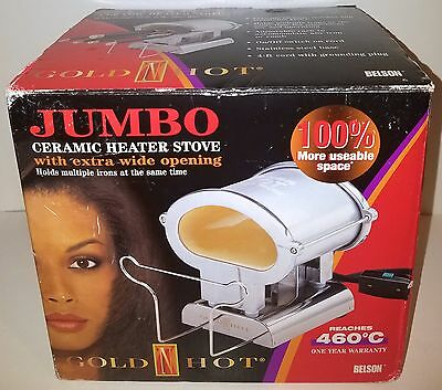 (NEW)Gold N Hot JUMBO Ceramic Heater Stove 460°C (860° F)with extra wide opening