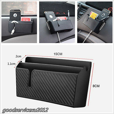 1 Pcs Black ABS Car Auto Accessories Air Outlet Storage Bag Box For Mobile Phone