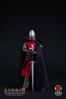 China Toys 1/6 Knights of Malta Ancient Medieval Soldier Figure Model