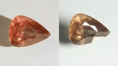 Color Change Garnet Red Orange Chocolate Faceted Pear Natural Gem 1.97 Carat