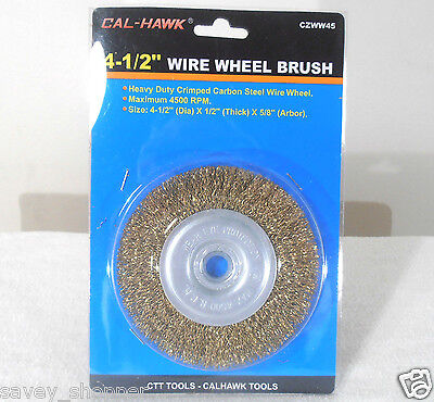 "4 1/2""  x 5/8"" ARBOR WIRE WHEEL BRUSH ANGLE GRINDER"