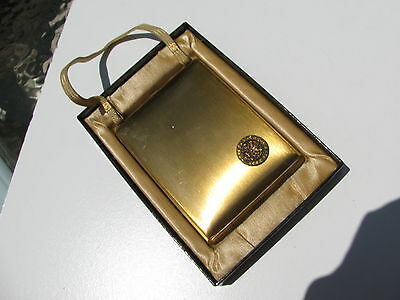 Antique Vintage Mondaine Paris New York Usa Ladies Makeup Metal Compact Purse