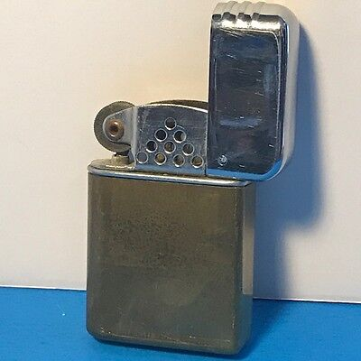 Gold Silver Lighter Collectible Vintage Tobacciana Advertising Unbranded Flip