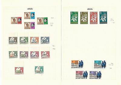 Lesotho & St. Vincent Collection on 4 Pages, Nice Lot
