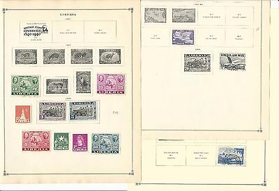 Liberia Collection 1941-1963 on 14 Scott International Pages