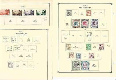 Libya Collection 1941-1962 on 6 Scott International Pages