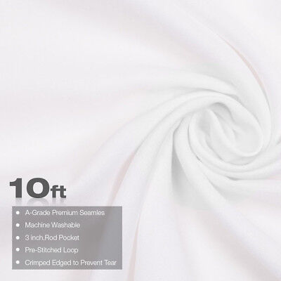 10 x 10Ft White Muslin Backdrop Photo Studio Photography Background Winkle Free